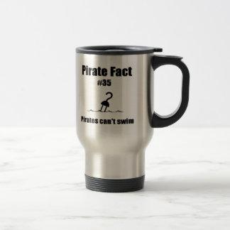 Pirate Fact #35 Pirates can't swim Coffee Mugs