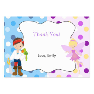 Pirate Fairy Thank You Tag Label Pack Of Chubby Business Cards