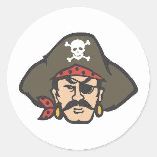 Pirate Fever Round Stickers