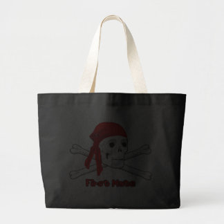 Pirate First Mate Skull and Bones Canvas Tote Bag