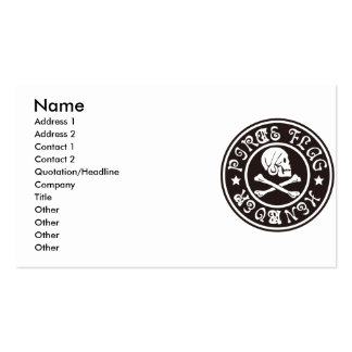 PIRATE_FLAG BUSINESS CARD TEMPLATE