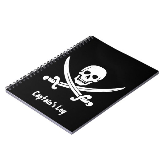 Pirate Flag Captain's Log Custom Notebook