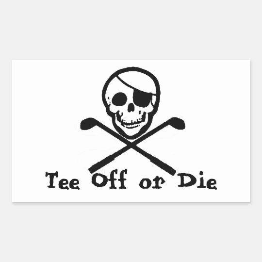 Pirate Flag Golf Cart Bumper Sticker