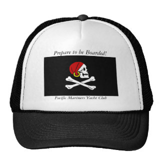 Pirate Flag hat with Prepare to be Boarded & PMYC