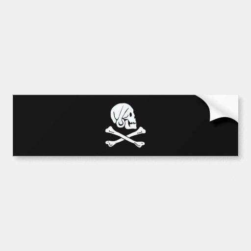 Pirate Flag - Jolly Roger Bumper Sticker
