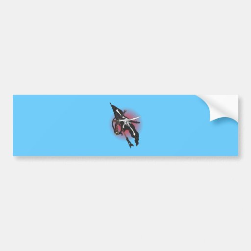 Pirate flag Jolly Roger Bumper Stickers