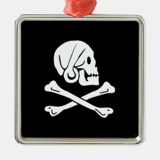 Pirate Flag - Jolly Roger Christmas Tree Ornaments