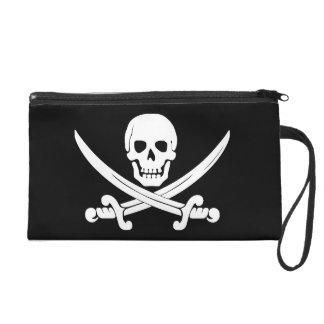 Pirate Flag Jolly Roger Skull and Crossbones Gift Wristlet Purses