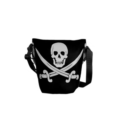 Pirate Flag Jolly Roger Skull and Crossbones Gift Courier Bag