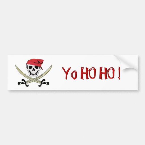 Pirate Flag Jolly Roger Yo Ho Ho Bumper Sticker