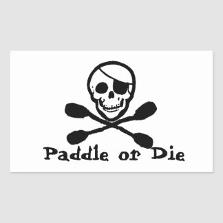 Pirate Flag Kayak Sticker