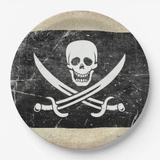 Pirate Flag Neverland Paper Plates