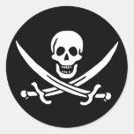 Pirate Flag Round Sticker