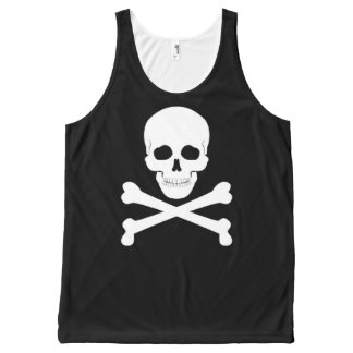 Pirate Flag Skull and Crossbones Jolly Roger All-Over Print Tank Top