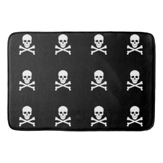 Pirate Flag Skull and Crossbones Jolly Roger Bath Mat