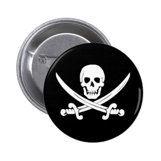 Pirate Flag Skull and Crossbones Jolly Roger Gift 6 Cm Round Badge