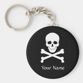 Pirate Flag Skull and Crossbones Jolly Roger Key Ring