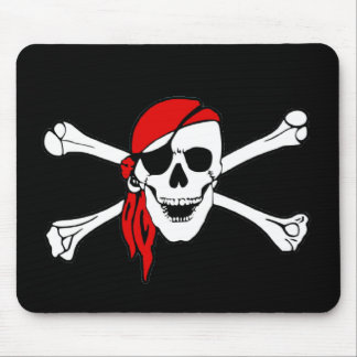 Pirate Flag Skull and Crossbones Jolly Roger Mouse Mat