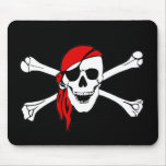 Pirate Flag Skull and Crossbones Jolly Roger Mouse Pad