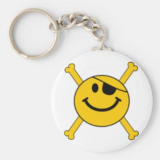 Pirate flag Smiley Keychain