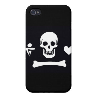 Pirate Flag Stede Bonnet iPhone 4 Cover