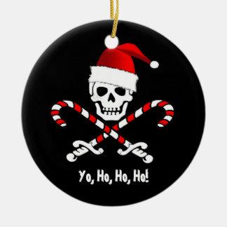 Pirate Flag Yo Ho Santa Christmas Ornament