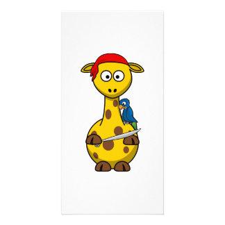 Pirate Giraffe Personalized Photo Card
