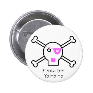 Pirate Girl 6 Cm Round Badge