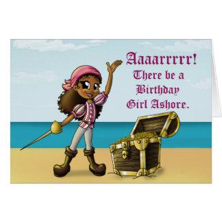 """Pirate Girl Birthday Cards"" Greeting Card"