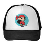 Pirate Girl Mesh Hats