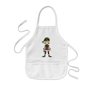 Pirate Girl with Bandana Apron