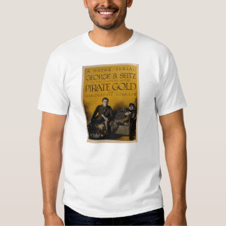 'Pirate Gold' 1920 silent movie ad exhibitor ad Tshirts