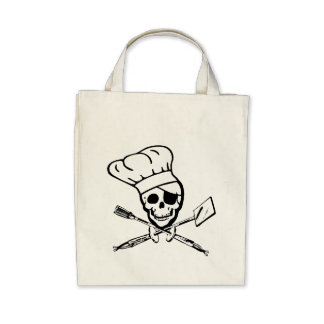 Pirate Grill Chef Tote Bags