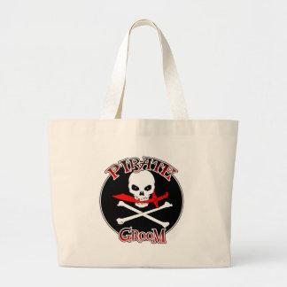 Pirate Groom Jumbo Tote Bag