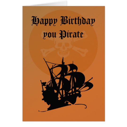 Pirate Happy Birthday card