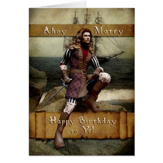 Pirate - Happy Birthday to Ye - Greeting Card