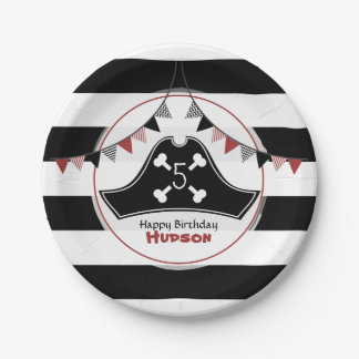 Pirate Hat Birthday 7 Inch Paper Plate