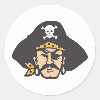 Pirate Head Round Sticker