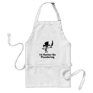 Pirate Id rather be plundering Adult Apron