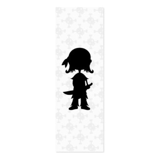 Pirate in Silhouette Bookmark Business Cards