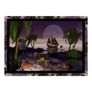 Pirate Island by David Wilder Posters