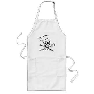 Pirate Jolly Roger Chef or Grilling Apron
