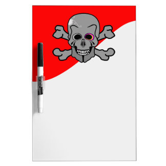 Pirate, Jolly Roger Dry Erase Board