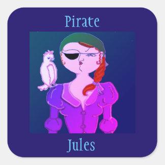 Pirate Jules The Eco Pirate- sticker