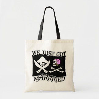 Pirate Just Married Budget Tote Bag