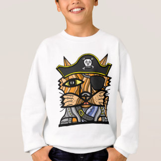 """Pirate Kat"" Kids' Hanes Sweatshirt"