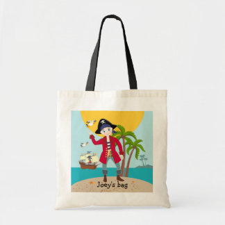 Pirate kid birthday party budget tote bag