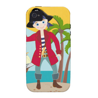 Pirate kid birthday party iPhone 4 cover