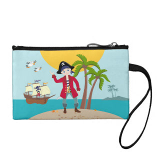 Pirate kid birthday party coin wallets