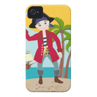 Pirate kid birthday party iPhone 4 covers